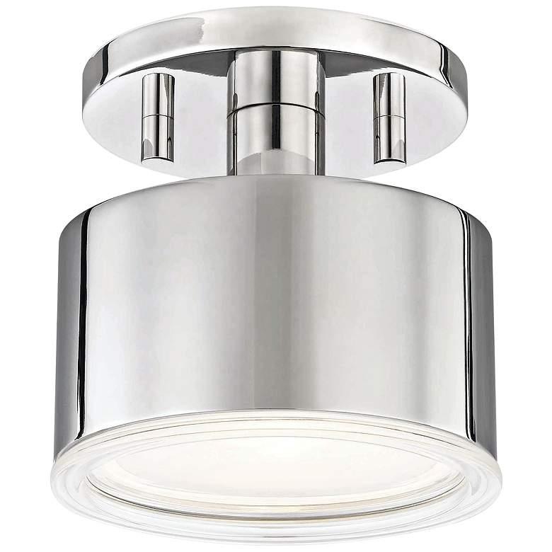 "Mitzi Nora 5 1/4"" Wide Polished Nickel LED Ceiling Light"