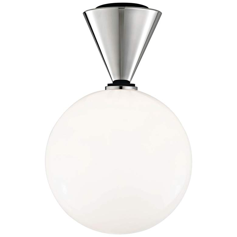 "Mitzi Piper 9"" Wide Polished Nickel LED Ceiling Light"