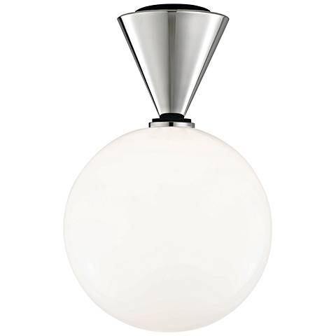 """Mitzi Piper 9"""" Wide Polished Nickel LED Ceiling Light"""