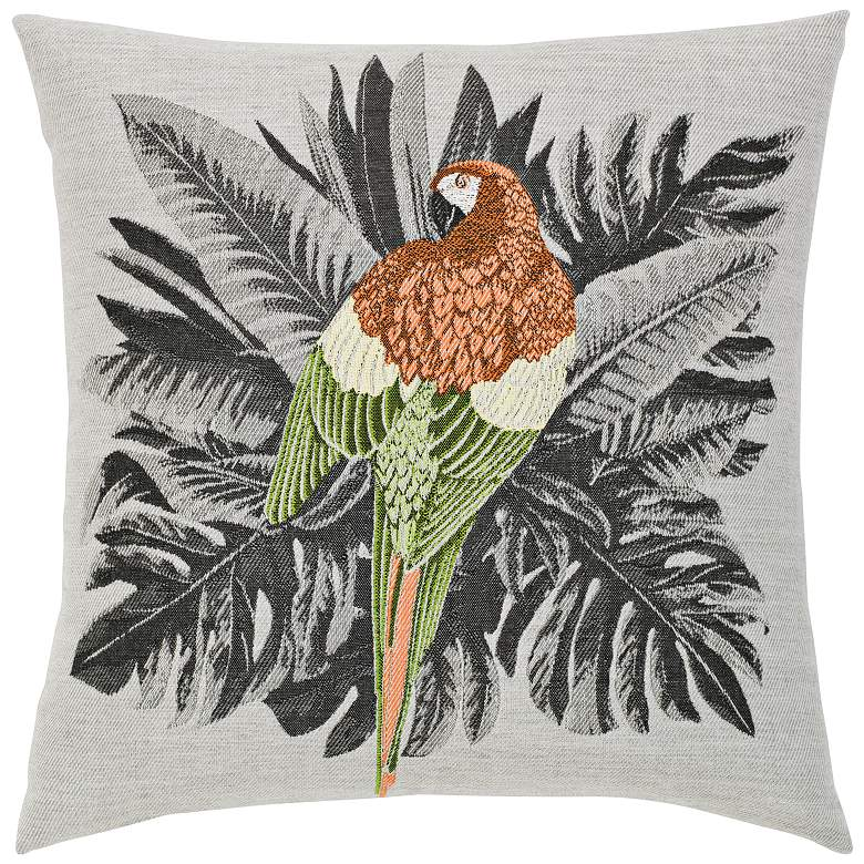 "Elaine Smith Macaw 20"" Square Indoor-Outdoor Pillow"