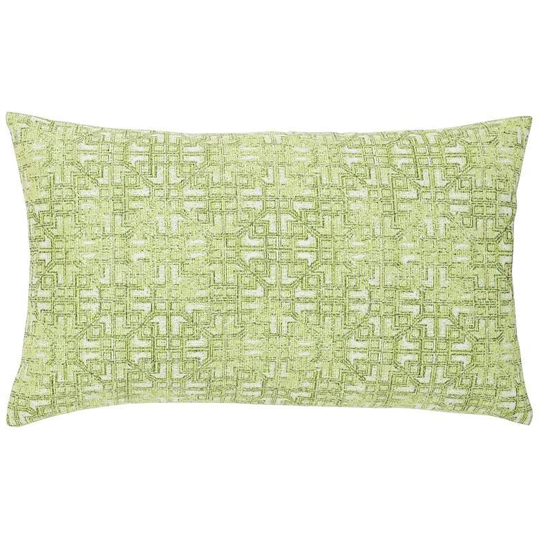 """Gate Greenery 20"""" x 12"""" Lumbar Indoor-Outdoor Pillow"""