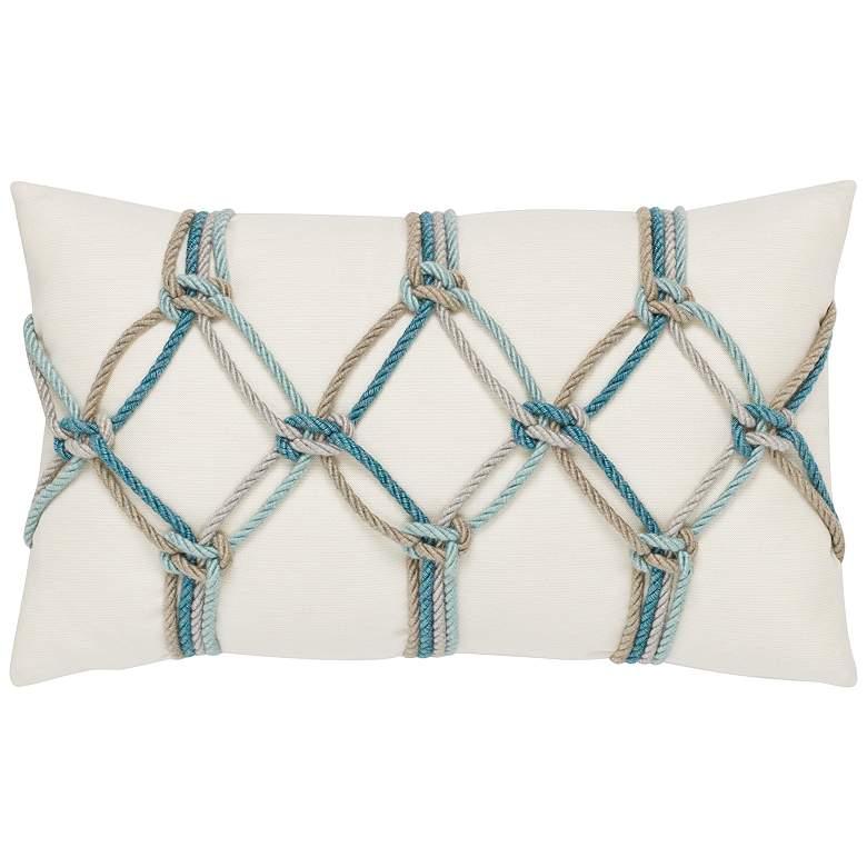 "Aqua Rope 20"" x 12"" Lumbar Indoor-Outdoor Decorative"