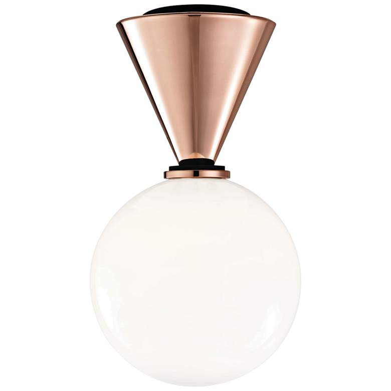 "Mitzi Piper 7 1/2"" Wide Polished Copper LED Ceiling Light"