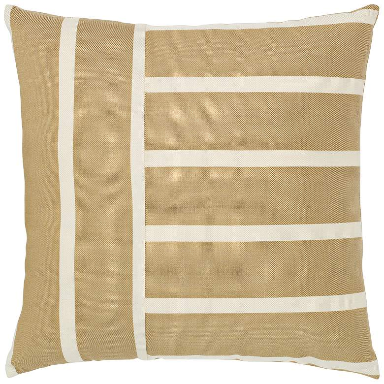 "Shine Striped 20"" Square Indoor-Outdoor Decorative Pillow"
