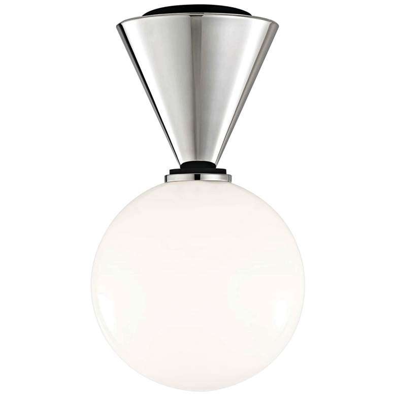 """Mitzi Piper 7 1/2"""" Wide Polished Nickel LED Ceiling Light"""