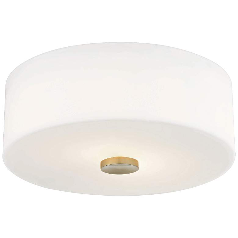 "Mitzi Sophie 12"" Wide Aged Brass Ceiling Light"