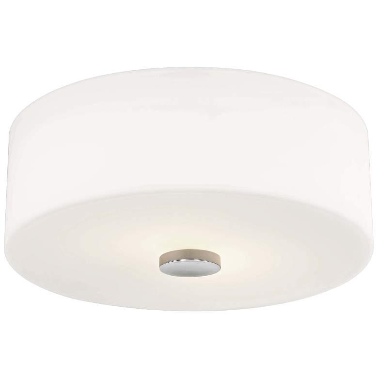 "Mitzi Sophie 12"" Wide Polished Nickel Ceiling Light"