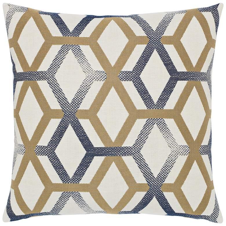 """Luminous Lines 20"""" Square Indoor-Outdoor Decorative Pillow"""