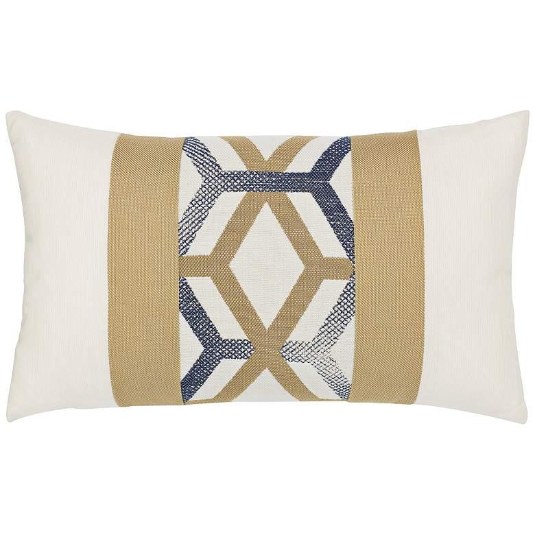"Luminous Lines 20"" x 12"" Lumbar Indoor-Outdoor Pillow"