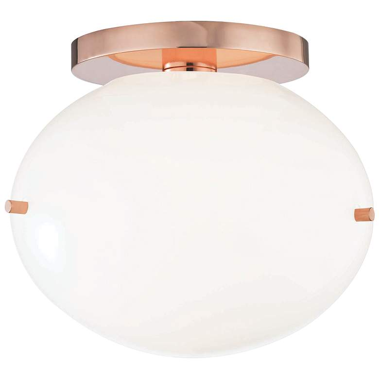 "Mitzi Winnie 7 3/4"" Wide Polished Copper LED Ceiling Light"