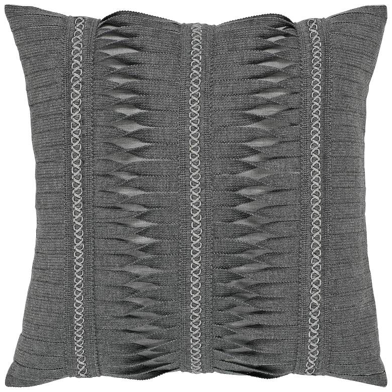 "Gladiator Smoke 20"" Square Indoor-Outdoor Decorative Pillow"