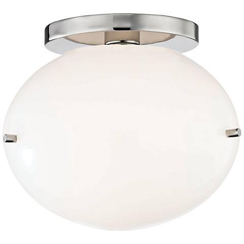 "Mitzi Winnie 7 3/4"" Wide Polished Nickel LED Ceiling Light"