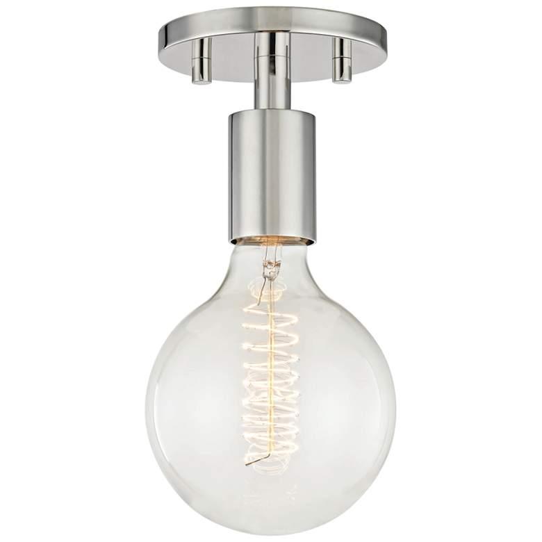 "Mitzi Ava 5"" Wide Polished Nickel Ceiling Light"