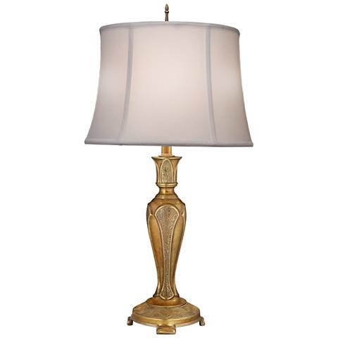 Stiffel Jasmyn Polished Honey Brass Table Lamp