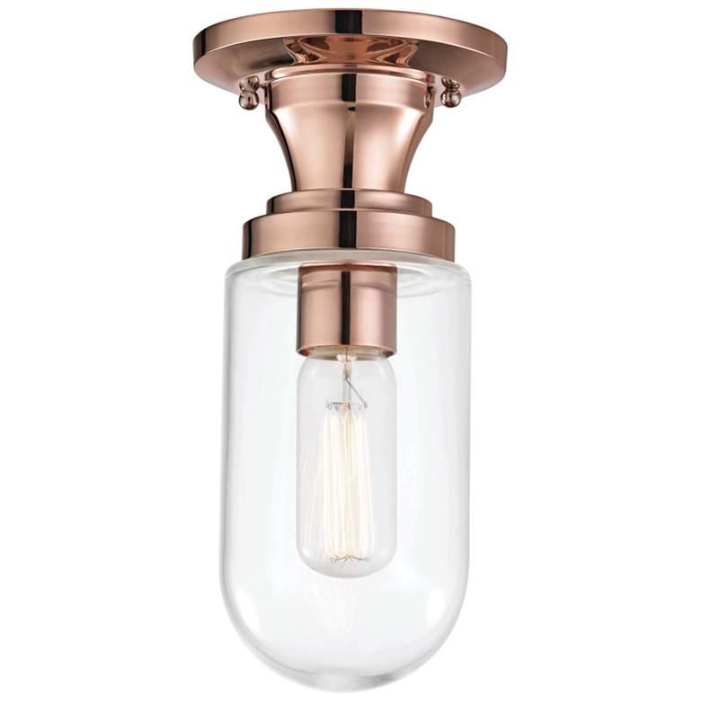 "Mitzi Clara 4 3/4"" Wide Polished Copper Ceiling Light"