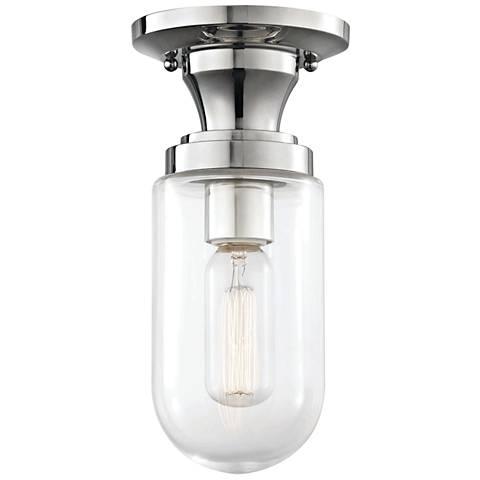 "Mitzi Clara 4 3/4"" Wide Polished Nickel Ceiling Light"