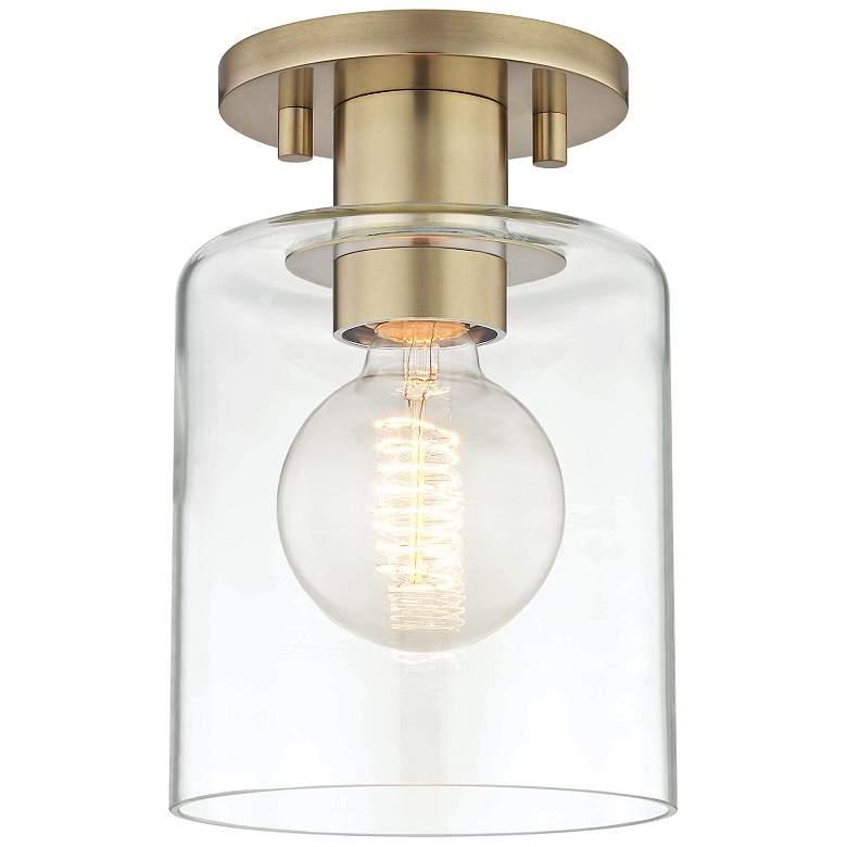 """Mitzi Neko 5 1/2"""" Wide Aged Brass Ceiling Light"""