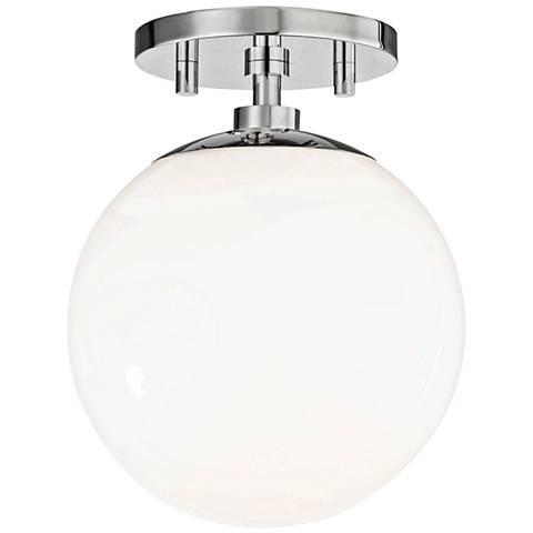 "Mitzi Stella 7"" Wide Polished Nickel Ceiling Light"