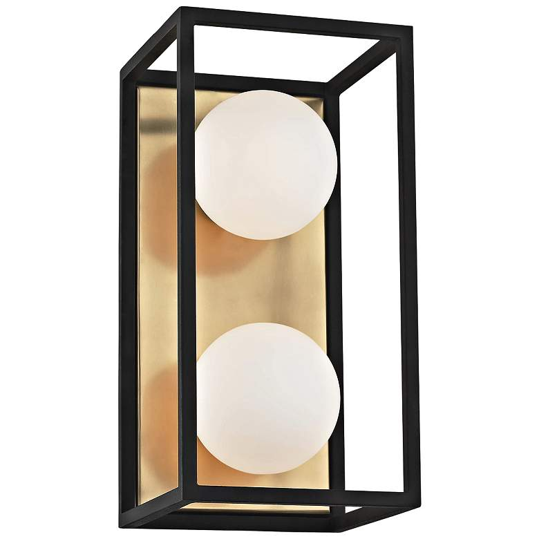 "Mitzi Aira 5"" High Aged Brass 2-Light LED Wall Sconce"