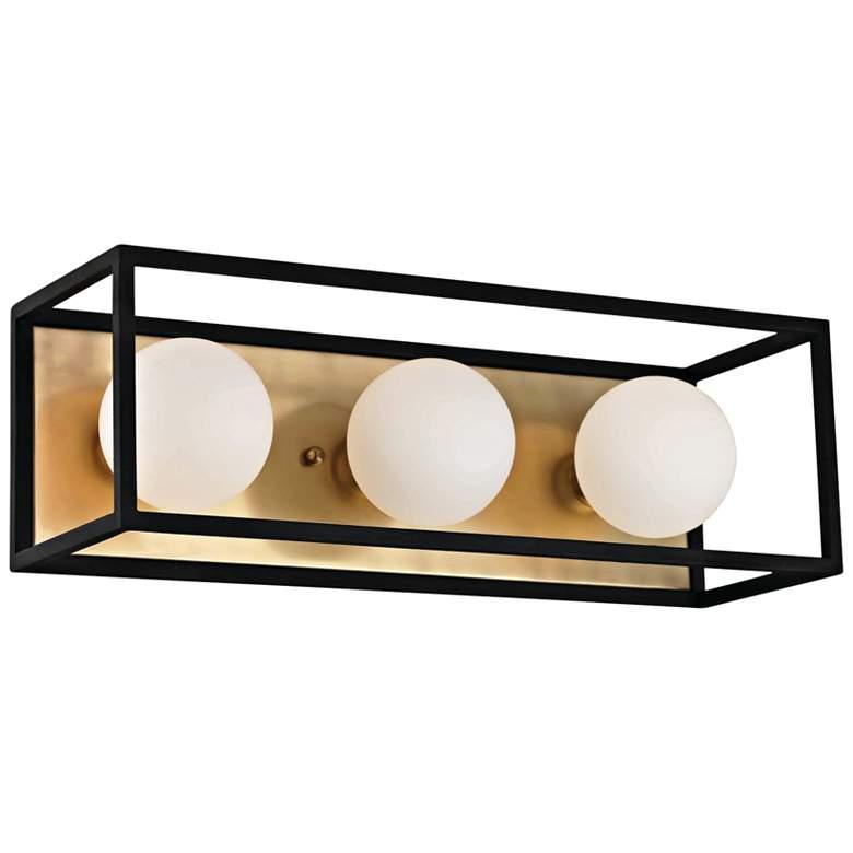 """Mitzi Aira 15"""" Wide Aged Brass 3-Light LED"""