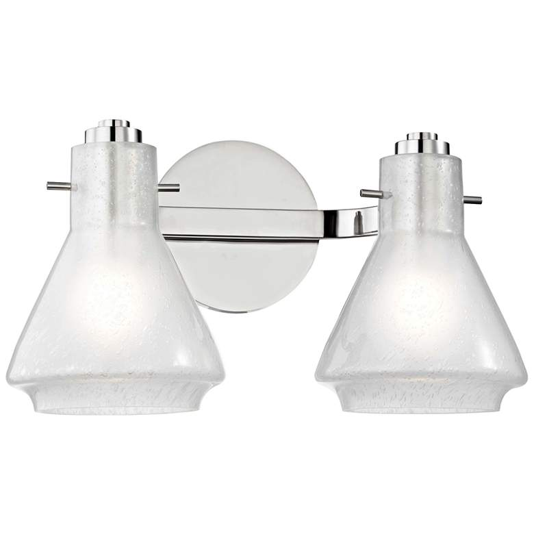 """Mitzi Rosie 7 1/2"""" High Polished Nickel 2-Light Wall Sconce"""