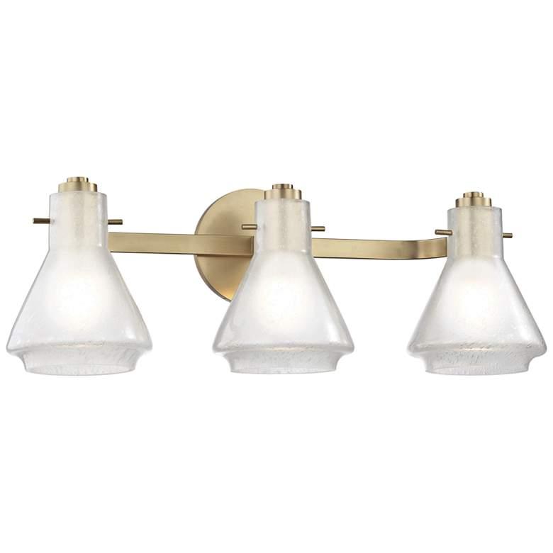 """Mitzi Rosie 21"""" Wide Aged Brass 3-Light Bath Light"""