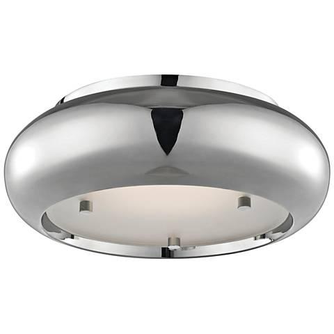 "Mitzi Keira 10"" Wide Polished Nickel LED Ceiling Light"