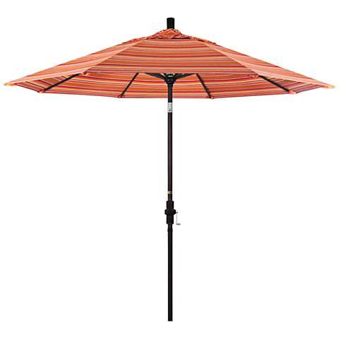 Golden Gate 9-Foot Dolce Mango Sunbrella Market Umbrella