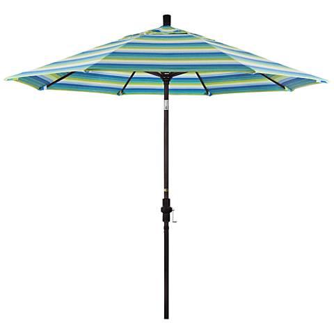 Golden Gate 9-Foot Seville Seaside Sunbrella Market Umbrella