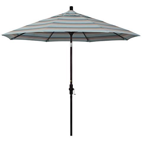 Golden Gate 9-Foot Gateway Mist Sunbrella Market Umbrella