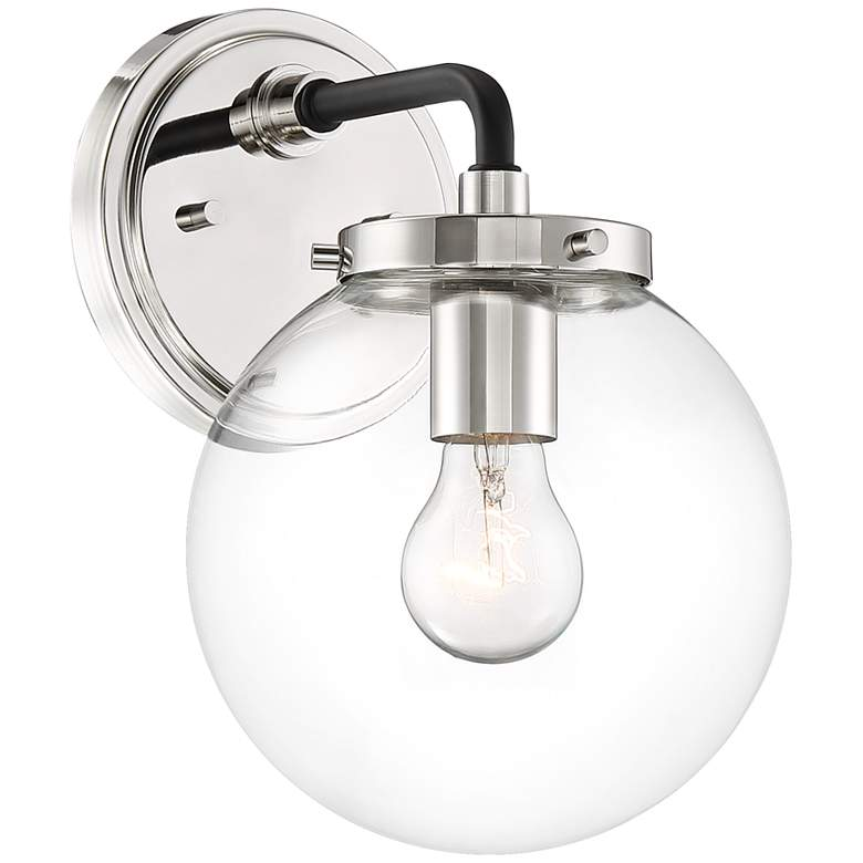 "Possini Euro Fairling 10 1/2"" High Glass Globe Wall Sconce"