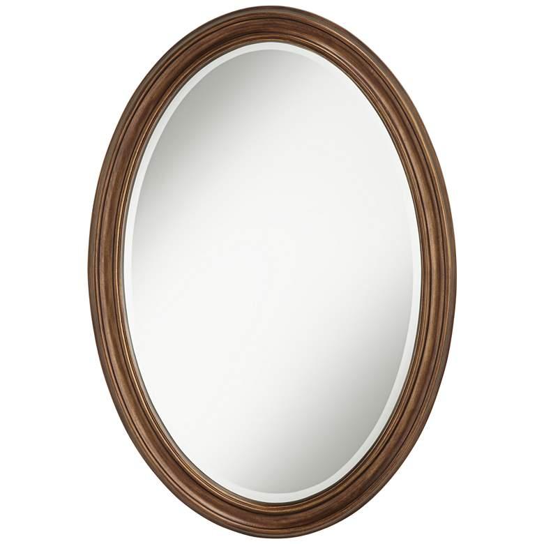 "Flanders Bronze 23 1/2"" x 34"" Oval Wall Mirror"
