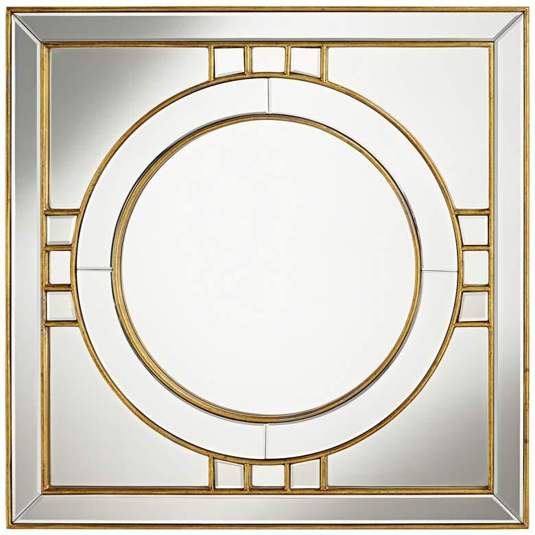 "Possini Euro Kinnerton Gold Inlay 36"" Square Wall Mirror"