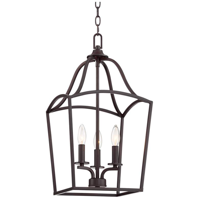 """Caldwell 11 3/4"""" Wide Steel 3-Light Entry Pendant"""