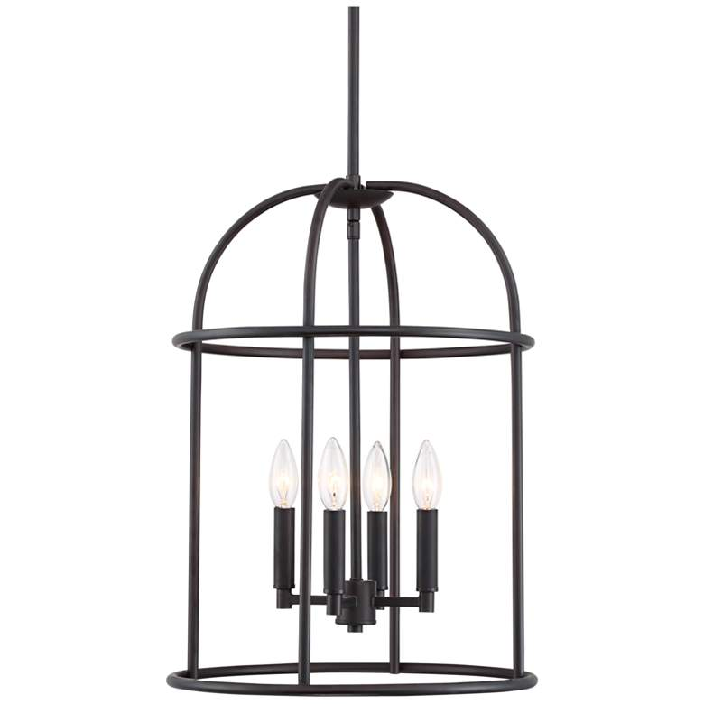 "Canary 15"" Wide Bronze 4-Light Foyer Pendant"