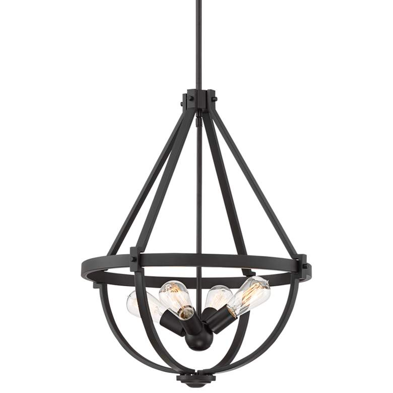 "Cunningham 20 1/2"" Wide Bronze Steel 4-Light Pendant"