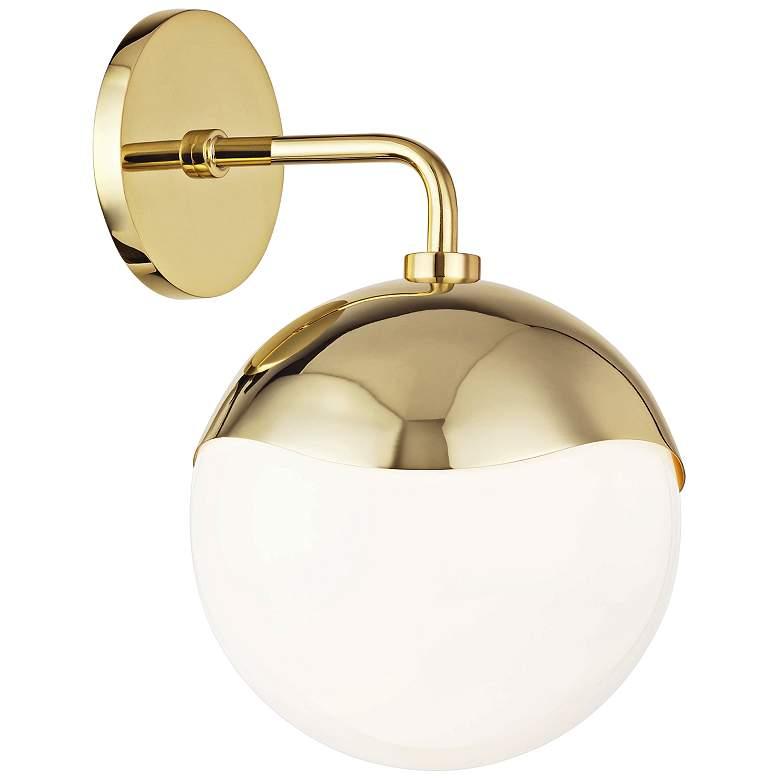 "Mitzi Ella 12"" High Polished Brass Wall Sconce"
