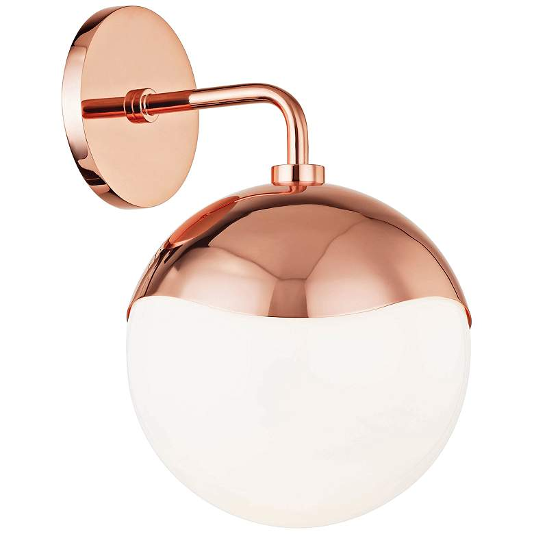 "Mitzi Ella 12"" High Polished Copper Wall Sconce"