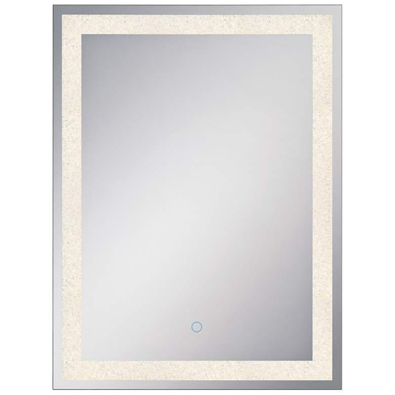 "Eurofase Back-Lit Chrome 21 1/2"" x 31 1/2"" LED Wall Mirror"