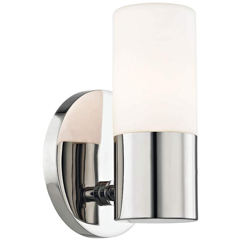 "Mitzi Lola 6 3/4"" High Polished Nickel LED Wall Sconce"