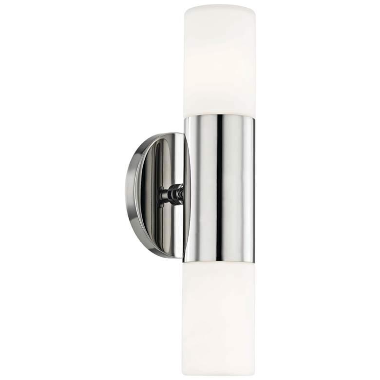 "Mitzi Lola 13"" High Polished Nickel 2-Light LED Wall Sconce"