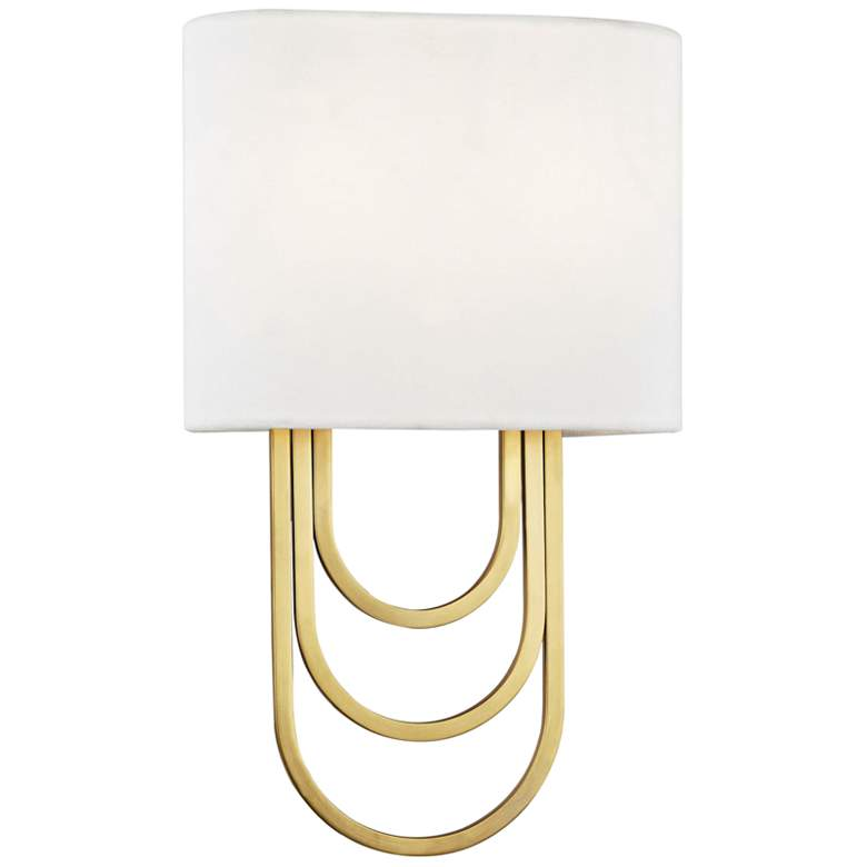"Mitzi Farah 13 1/2"" High Aged Brass Wall Sconce"