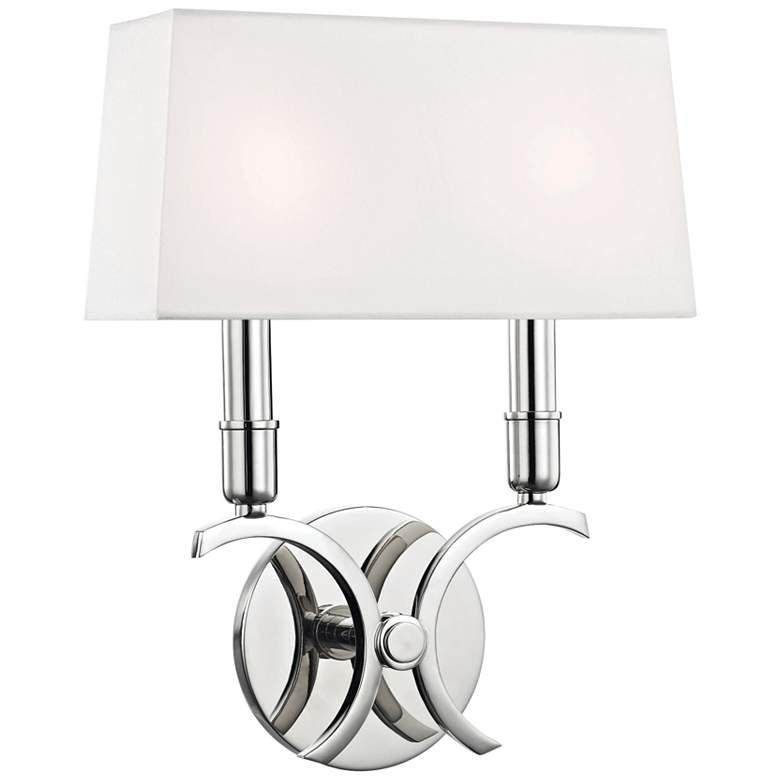 "Mitzi Gwen 13 1/4"" High Polished Nickel 2-Light Wall Sconce"