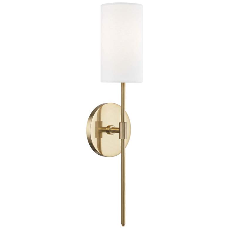 "Mitzi Olivia 18 3/4"" High Aged Brass Wall Sconce"