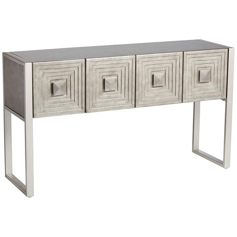 "Carrington 51 1/2"" Metallic Painted 4-Door Console Table"