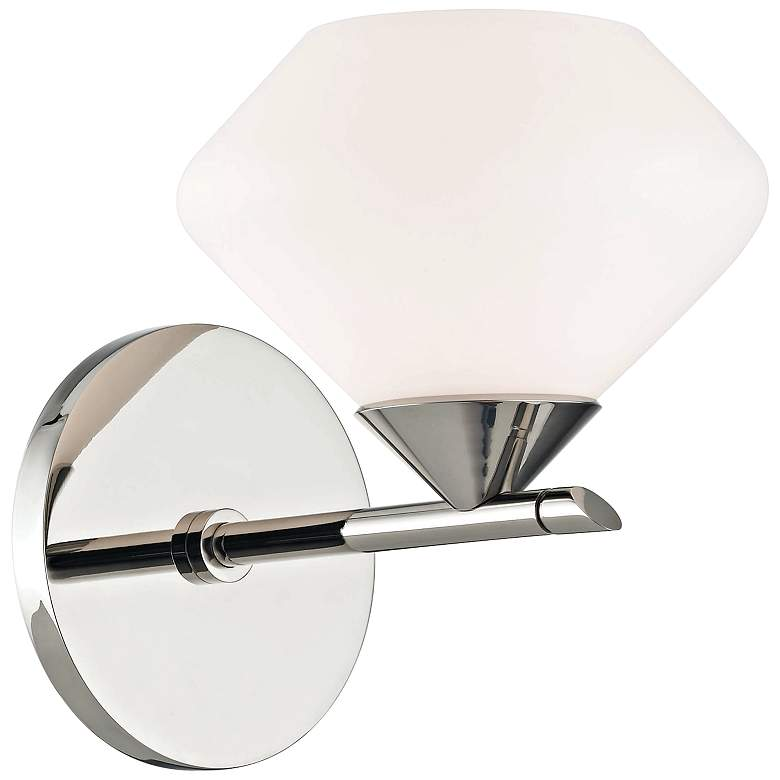 """Mitzi Valerie 7"""" High Polished Nickel Wall Sconce"""