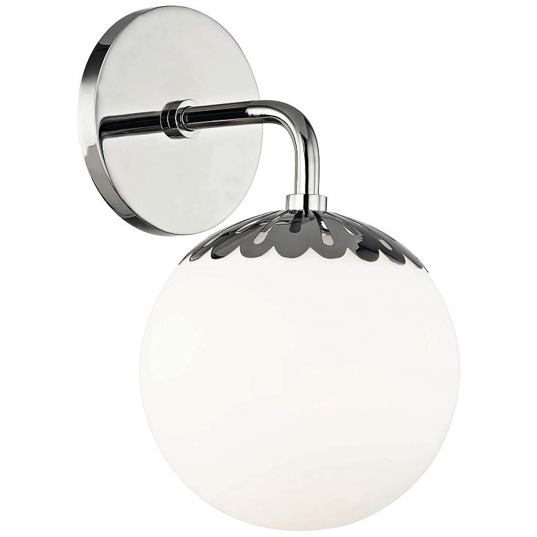 """Mitzi Paige 10 1/2"""" High Polished Nickel Wall Sconce"""