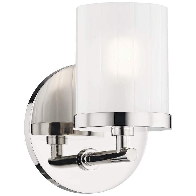 "Mitzi Ryan 6 1/4"" High Polished Nickel Wall Sconce"