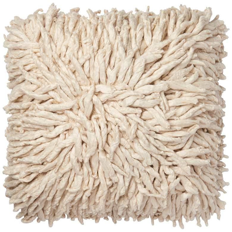 """Loloi Cream 22"""" Square Throw Pillow"""