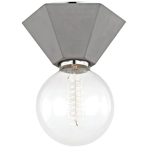 "Mitzi Lynn 6 3/4"" Wide Concrete Ceiling Light"